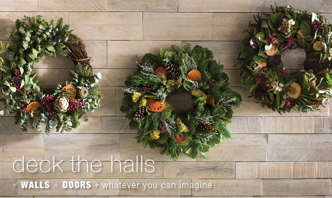 deck the halls + walls + doors + whatever you can imagine