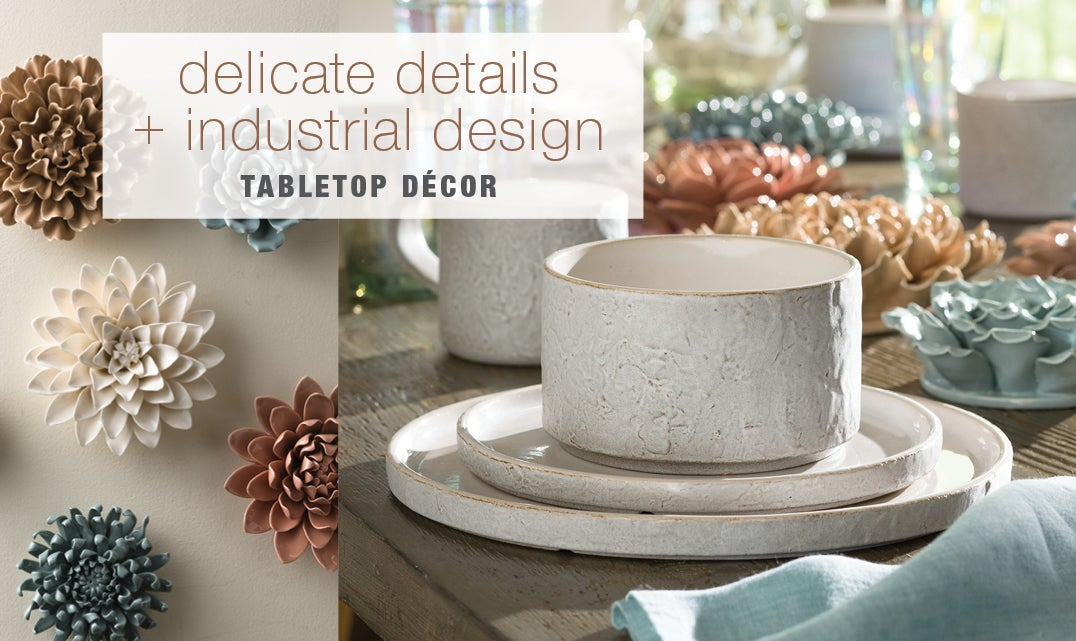 delicate details + industrial design - Shop Tabletop Decor