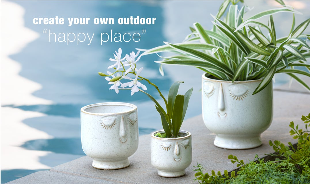 create your own outdoor happy place