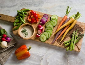 Viva Terra Blog - Celebrate summer with stylish crudités platters