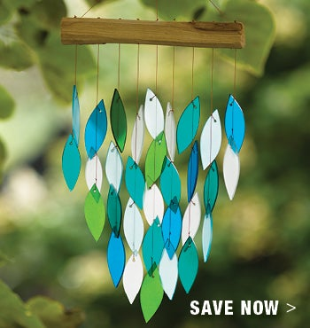 Save now on Glass Wind Chime in our Summer Sale