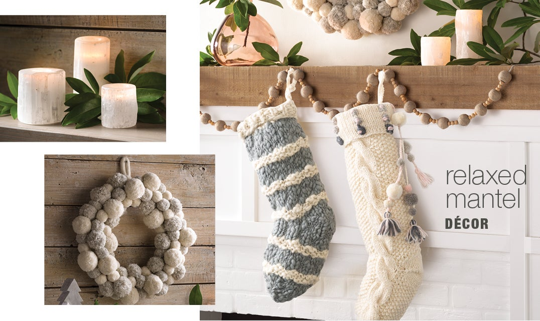 relaxed mantel décor
