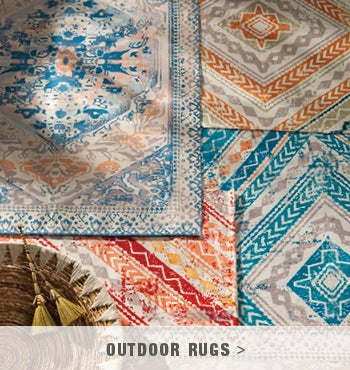 Indoor/ Outdoor Soft Recycled Printed Rug Collection - shop outdoor rugs