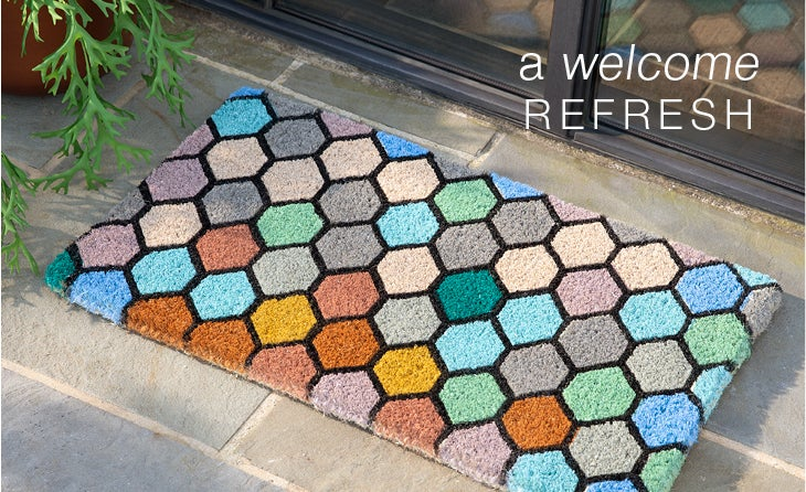 a welcome refresh - Rugs + Doormats