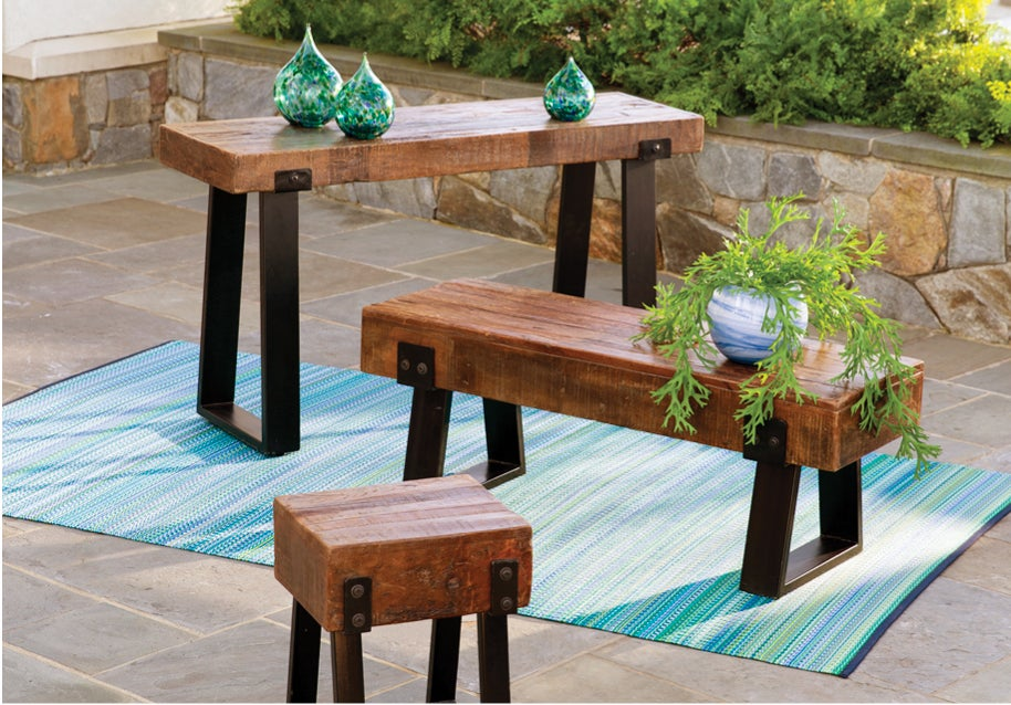 Richland bench, table and stool - Shop Outdoor Furniture