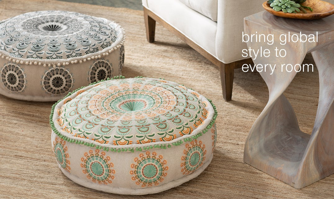 bring global style to every room - shop decorative objects
