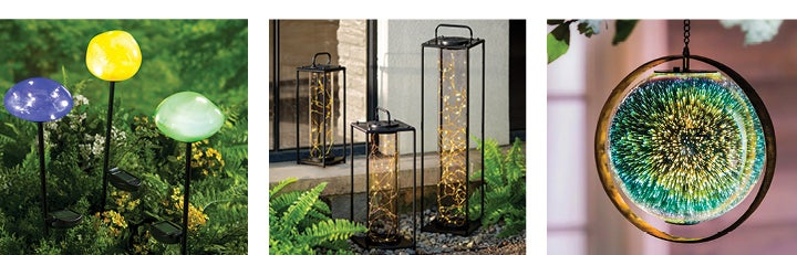 assortment of outdoor lighting products - SHOP OUTDOOR LIGHTING