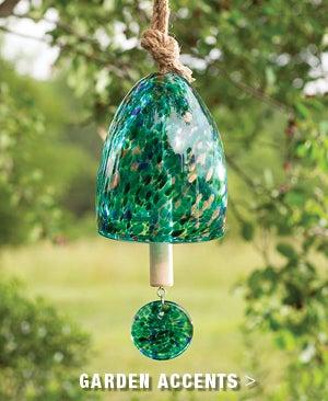Jumbo Aqua Garden Bell - Shop Garden Accents