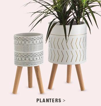 Aztec White Planters - shop planters