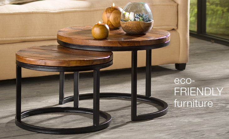 Reclaimed Round Nesting Tables - Shop Reclaimed Furniture