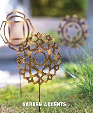 Image of Chakra Garden and Planter Metal Stake Collection - Shop Garden Accents