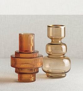 Image of modern deco glass vases