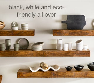 Image of Dinner and Serveware - black, white and eco-friendly all over. Shop For the Table