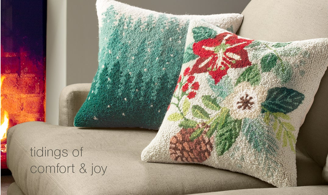 image of Holiday Pillows. Light up the holidays - Shop Holiday Decor