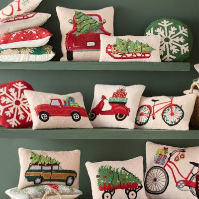 Holiday Hand Hooked Wool Pillows