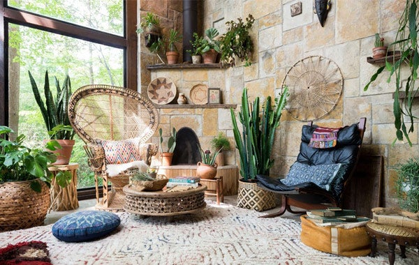 Loloi Rugs in Boho Room