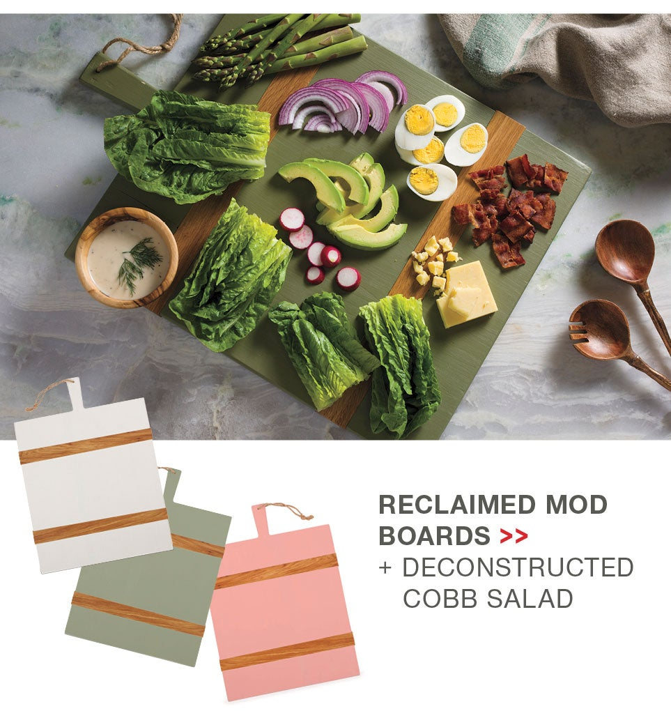 Reclaimed Mod Boards + Deconstructed Cobb Salad
