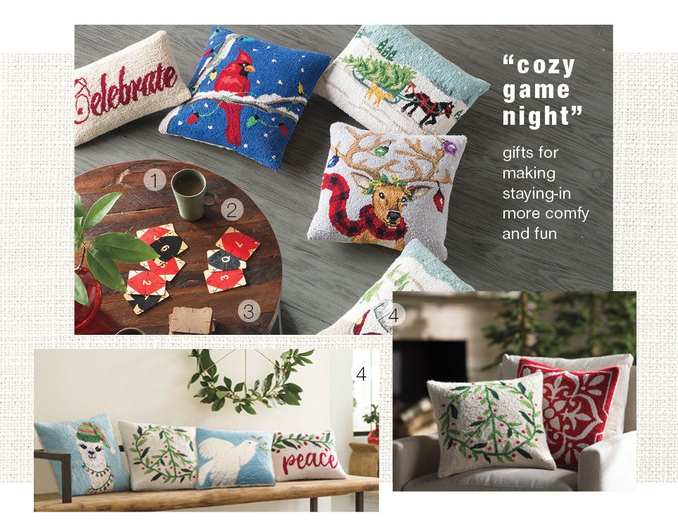 cozy game night - gifts for making staying-in more comfy and fun