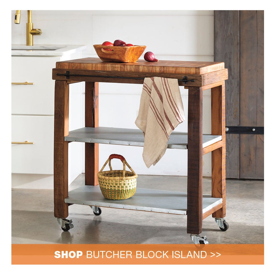 shop butcher block island