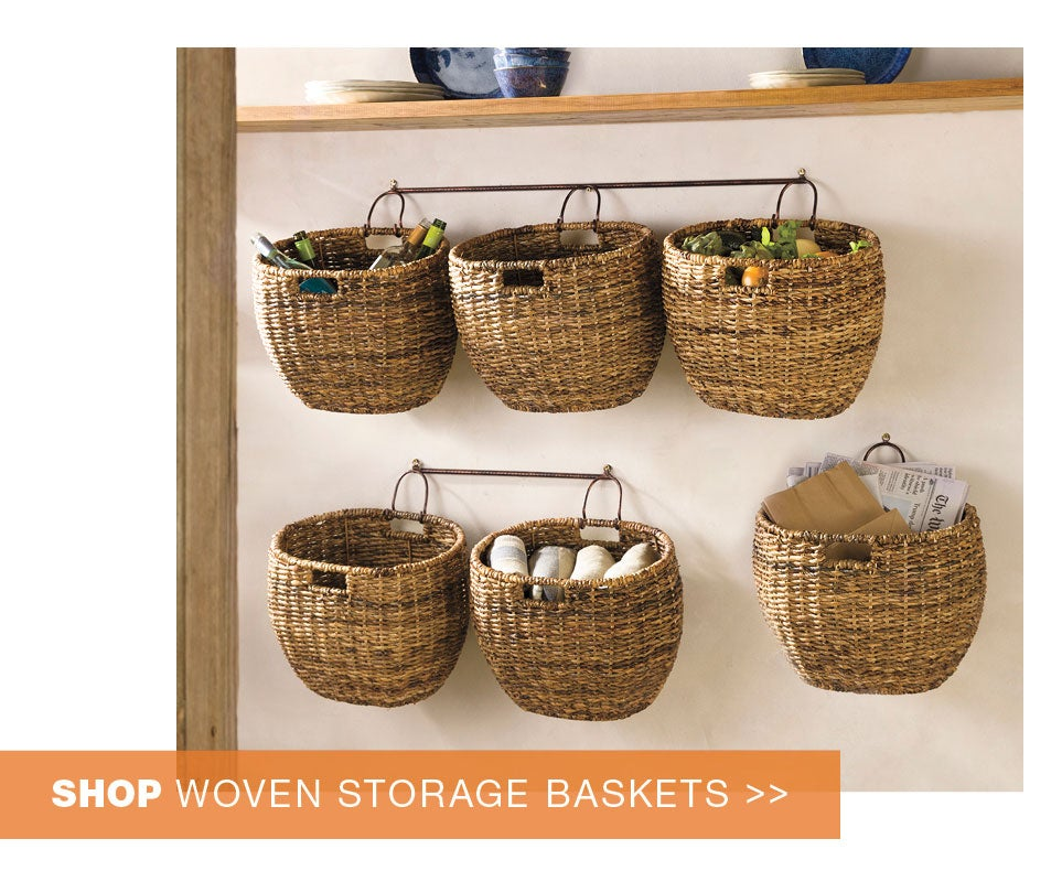 shop woven storage baskets