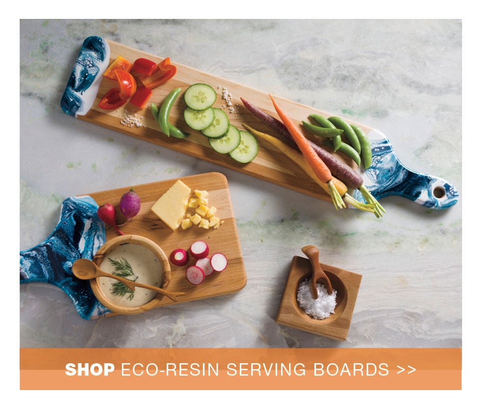shop eco-resin serving boards