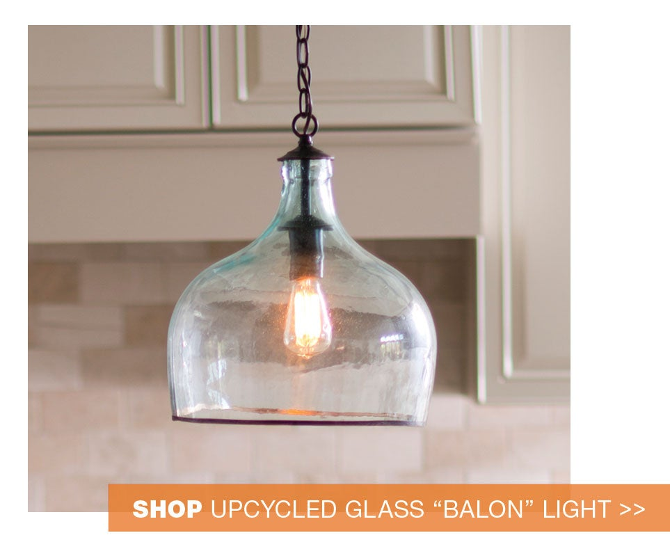shop upcycled glass balon light