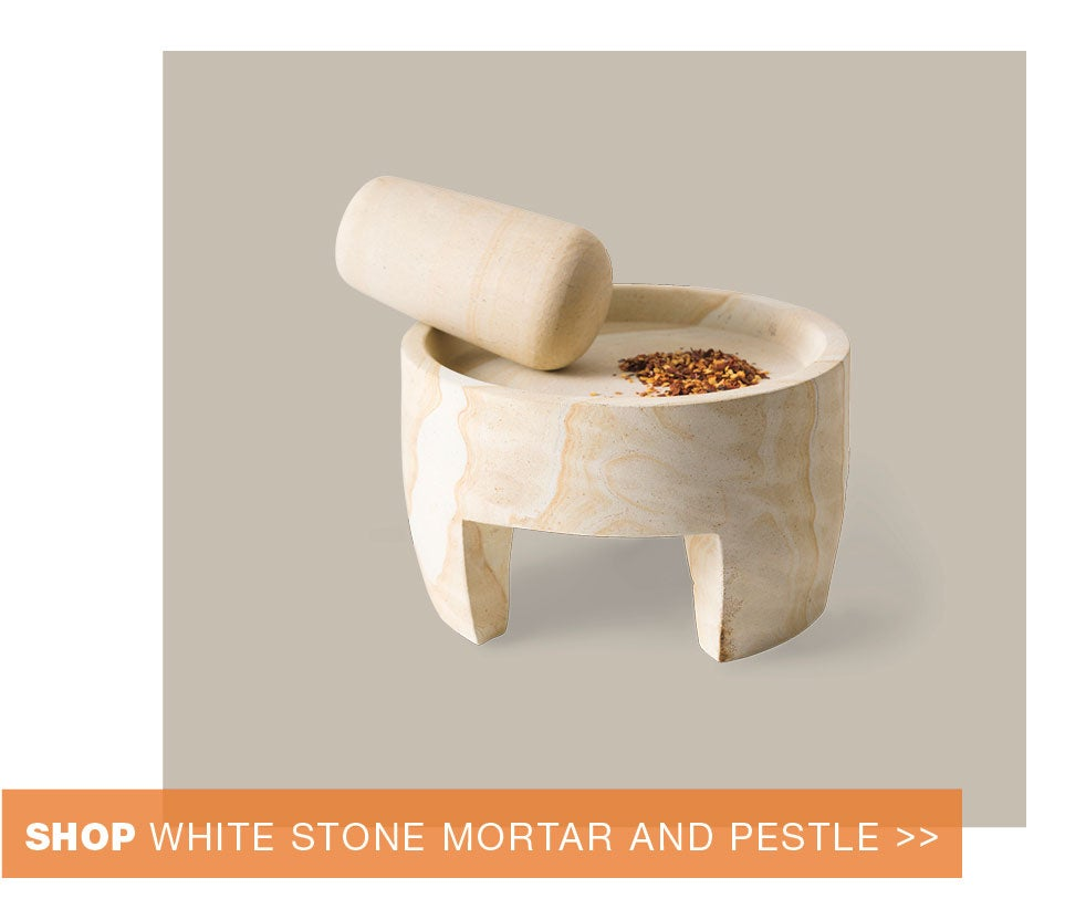 shop white stone mortar and pestle